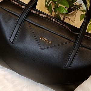 FURLA LARGE BLACK HANDBAG